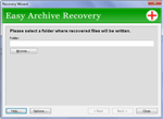 fotografia programului: Easy Archive Recovery