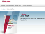 fotografia: McAfee Anti-Theft