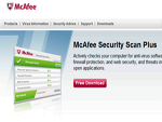 fotografie: McAfee Security Scan Plus